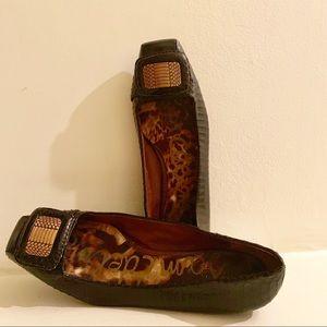 Sam Edelman Square Toe Jeneva Leather Flats Size 9